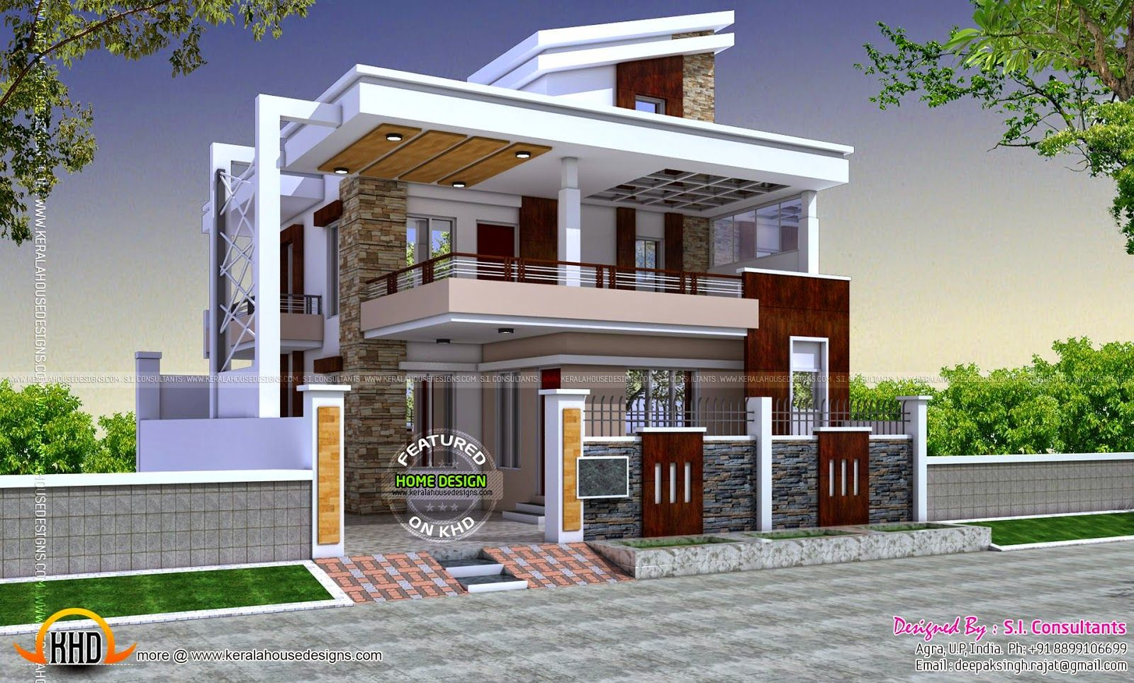 hillside house design in kerala architectural home design home exterior designs india - Home Design Gallery