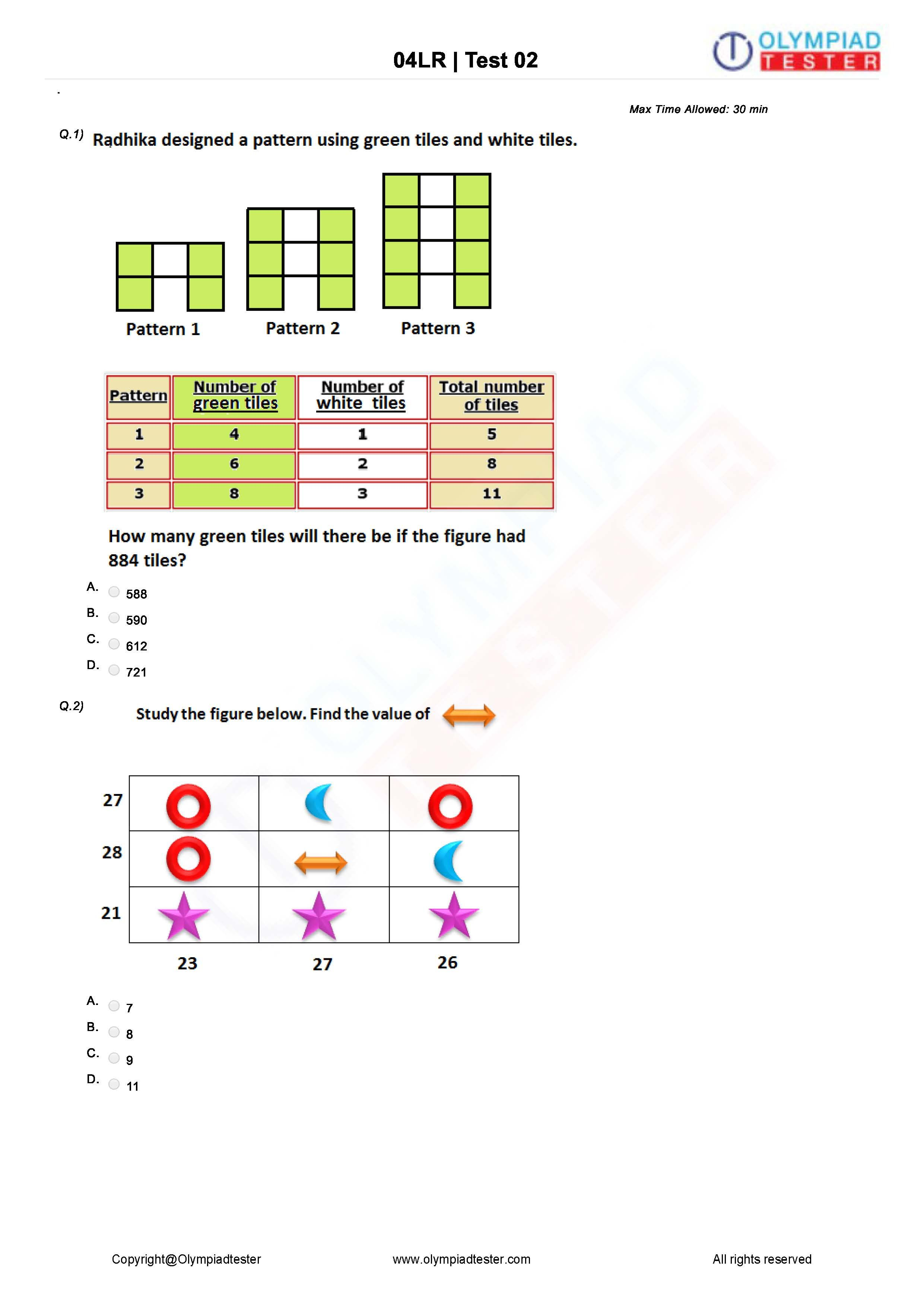 Logical Reasoning Worksheet 02