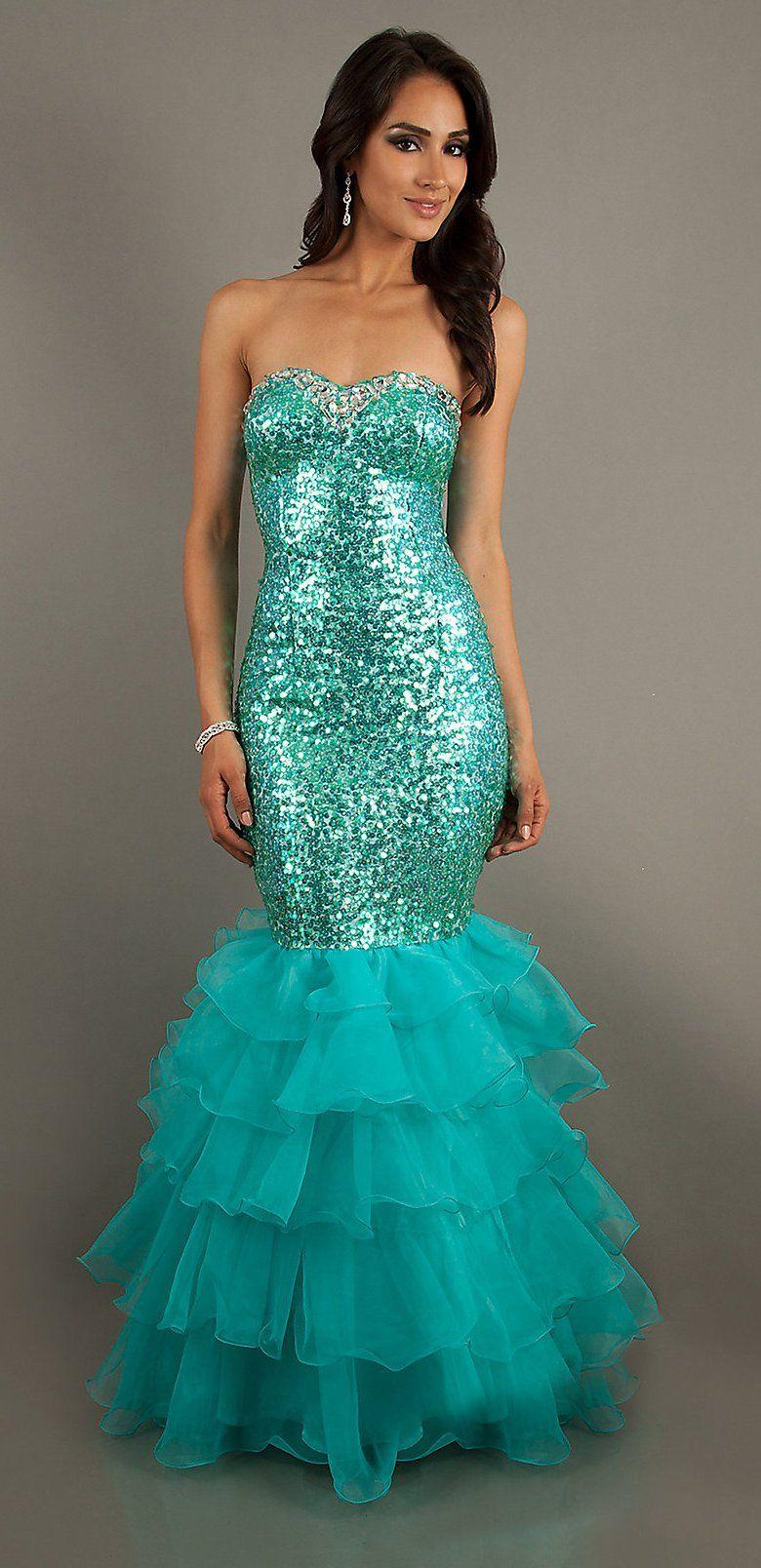 Aqua green sequins mermaid prom dress long sweetheart neck for Tight fitted mermaid wedding dresses