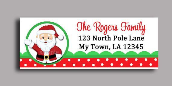 christmas santa claus labels printable or by thatpartychick 8 00