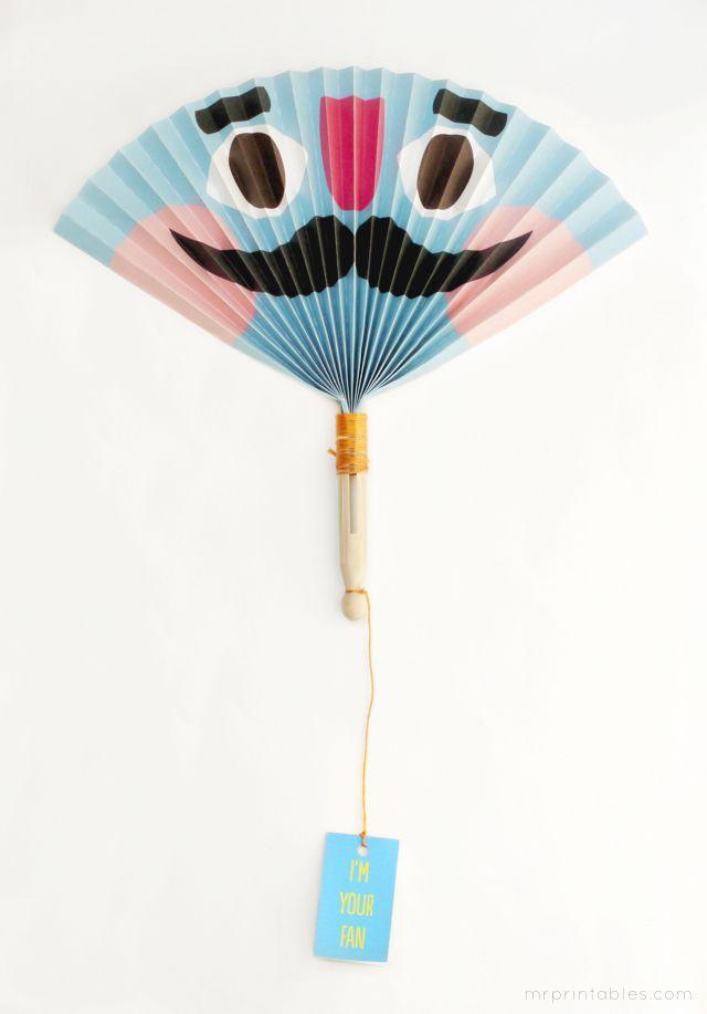 Summer Crafts Diy Paper Fan Templates At Mr Printables