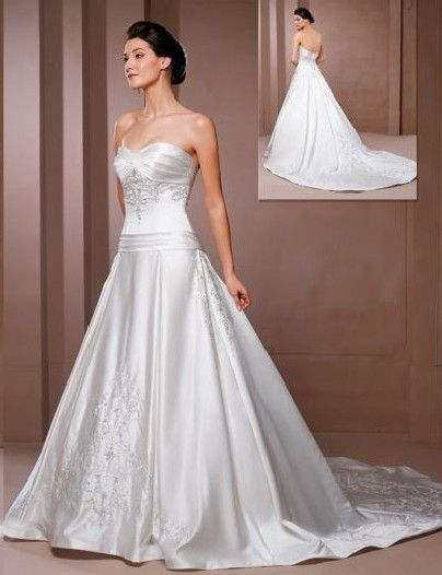 Superb Satin Wedding Dresses Pros And Cons which has a luxury fabric making the bride