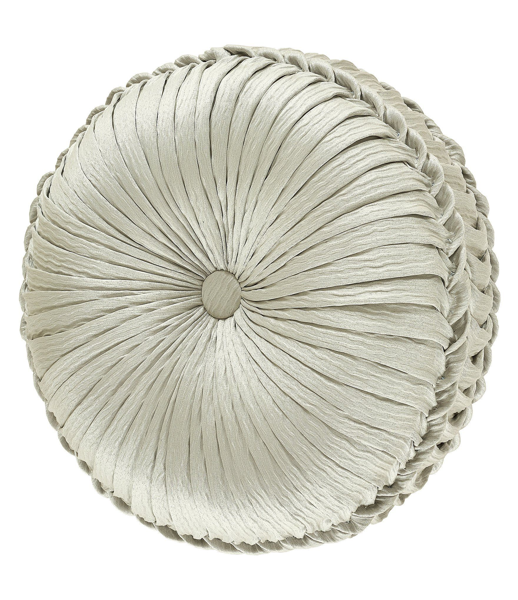 J. Queen New York Clearwater Spa Tufted Round Pillow | Dillard's