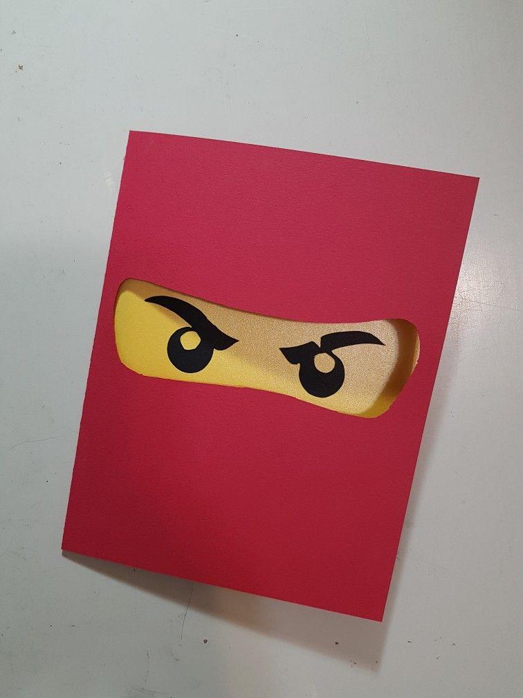 Lego Ninjago Birthday Card Lego Ninjago Birthday Ninjago Birthday Birthday Cards