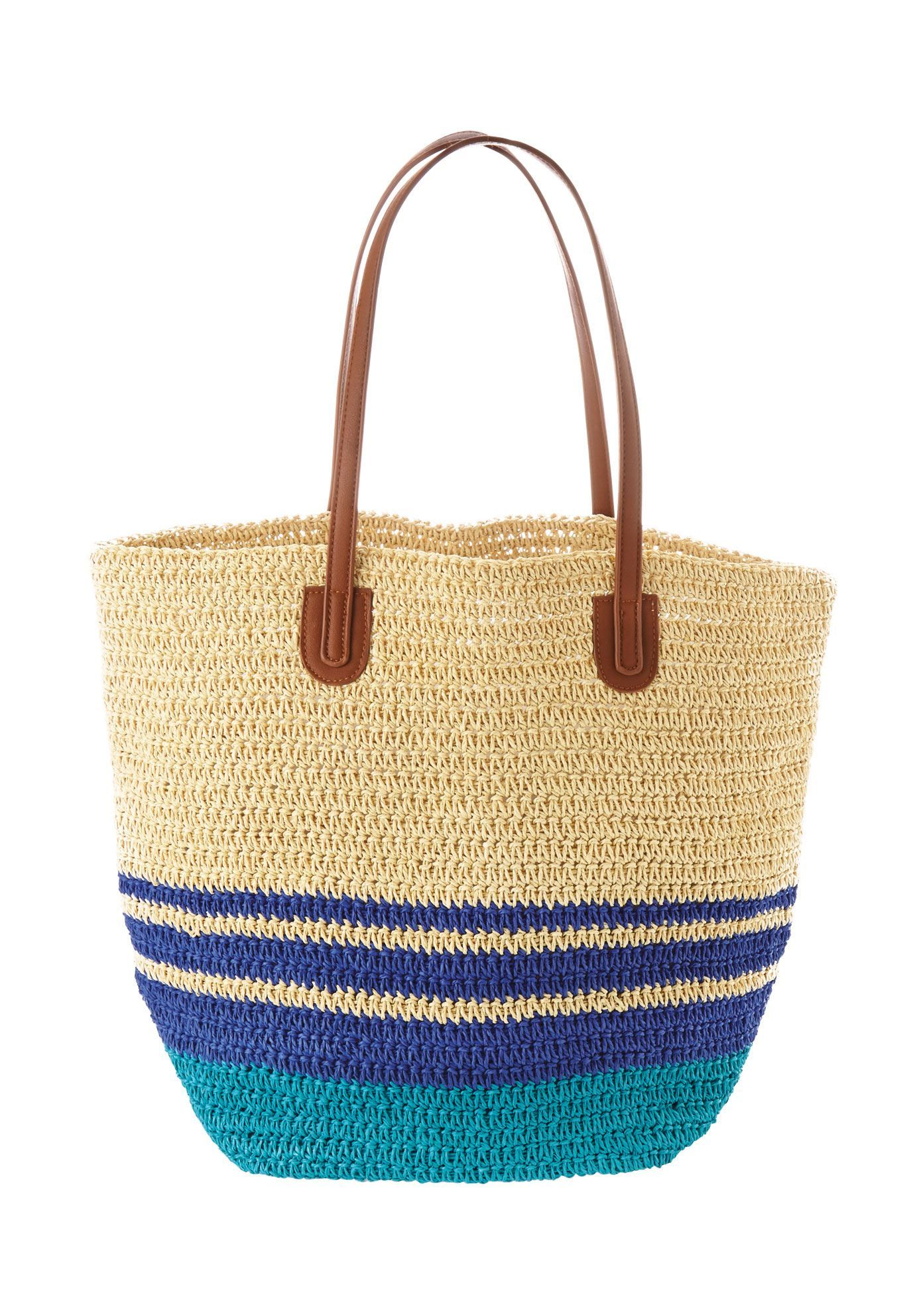 Straw beach bag - Wide Width Women s  e0e9549f3