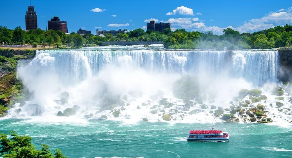 Beautiful Niagara Falls On A Clear Sunny Day Niagara
