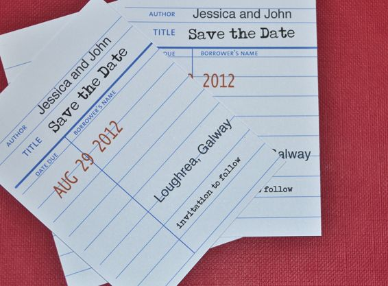 jessica f library card save the date but could be a cute be a cute table card