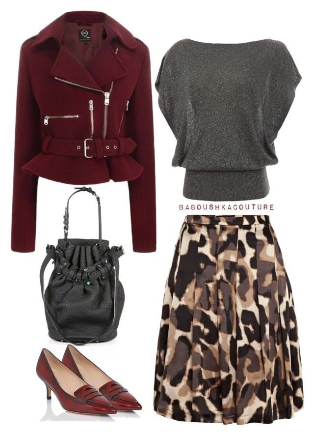 """""""Color of Fashion: Oxblood"""" by baboushkacouture ❤ liked on Polyvore featuring Alexander Wang, McQ by Alexander McQueen, L.K.Bennett, Alice + Olivia, Weekend Max Mara, AlexanderMcQueen, polyvorecommunity and fullskirts"""