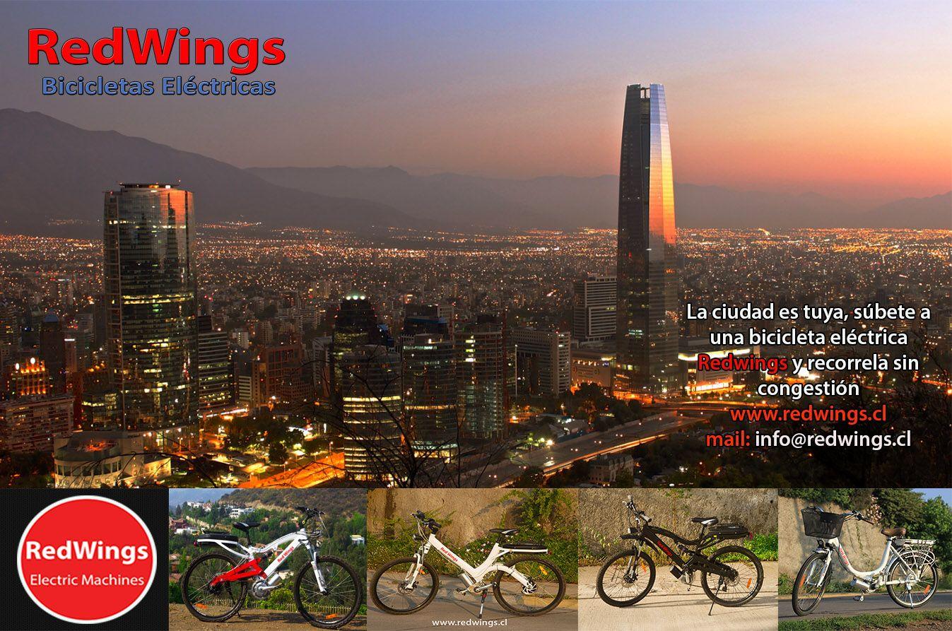 La ciudad es tuya, recorrela sin congestión en una #bicicleta #eléctrica #Redwings
