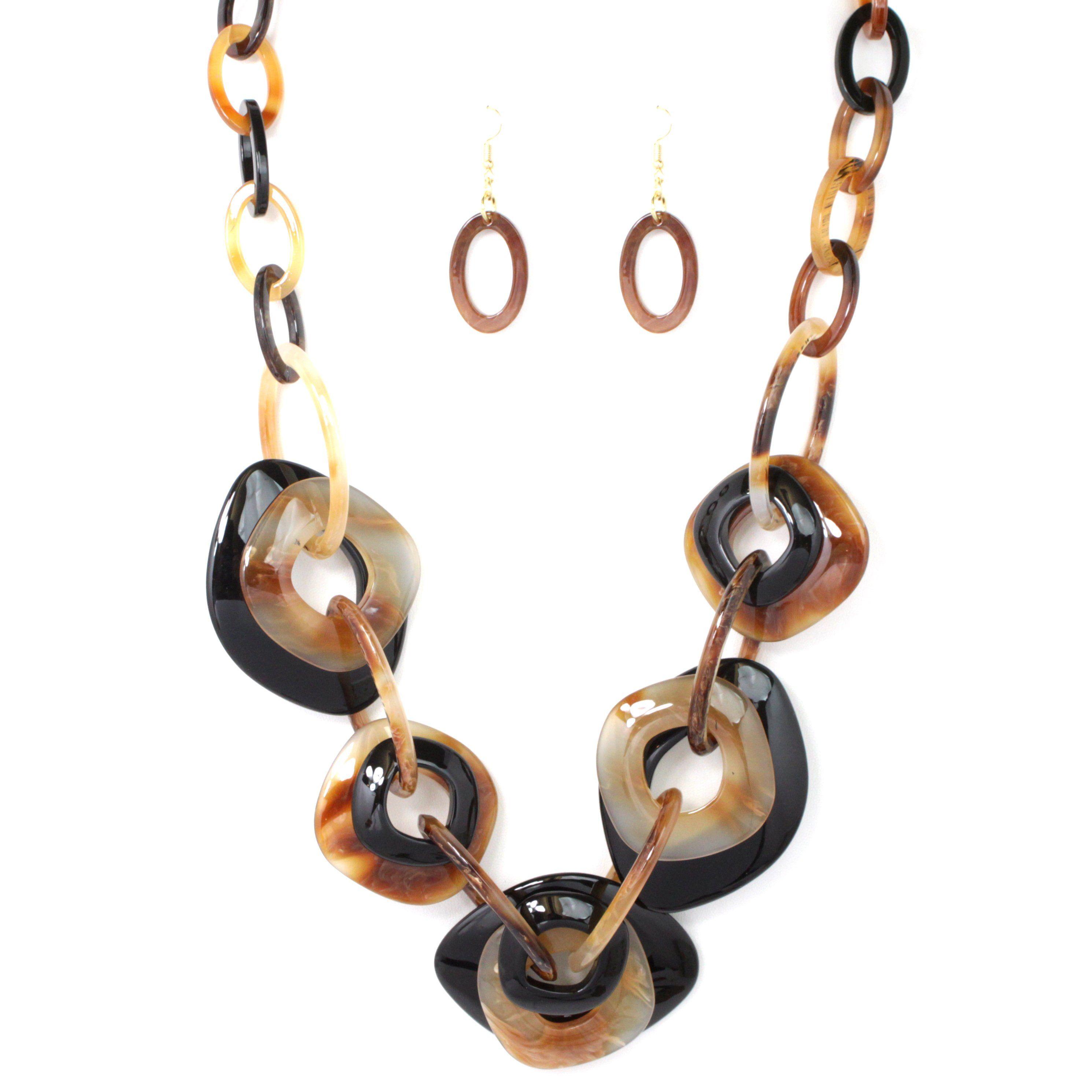 Celluloid Color Link Necklace