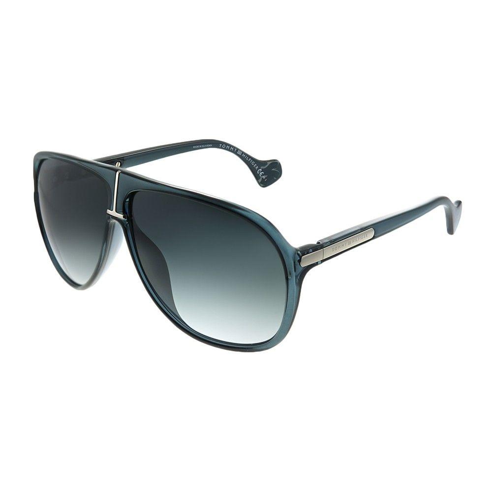 Tommy Hilfiger Th Zendaya Geg Womens Aviator Sunglasses Transparent Blue 63mm Sunglasses Women Aviators Aviator Sunglasses Sunglasses