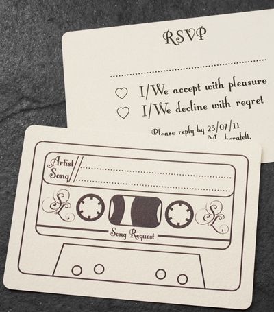 Ask For Song Requests On The Wedding RSVP Card Or Have These Request Cards At Tables