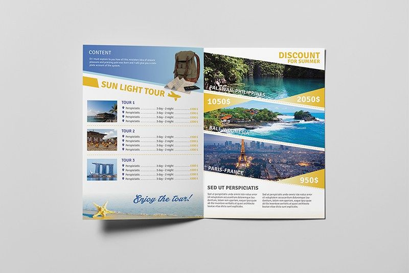 FREE-+TRAVEL +A5+BROCHURE+TEMPLATE Travel Pinterest Brochure - sample travel brochure