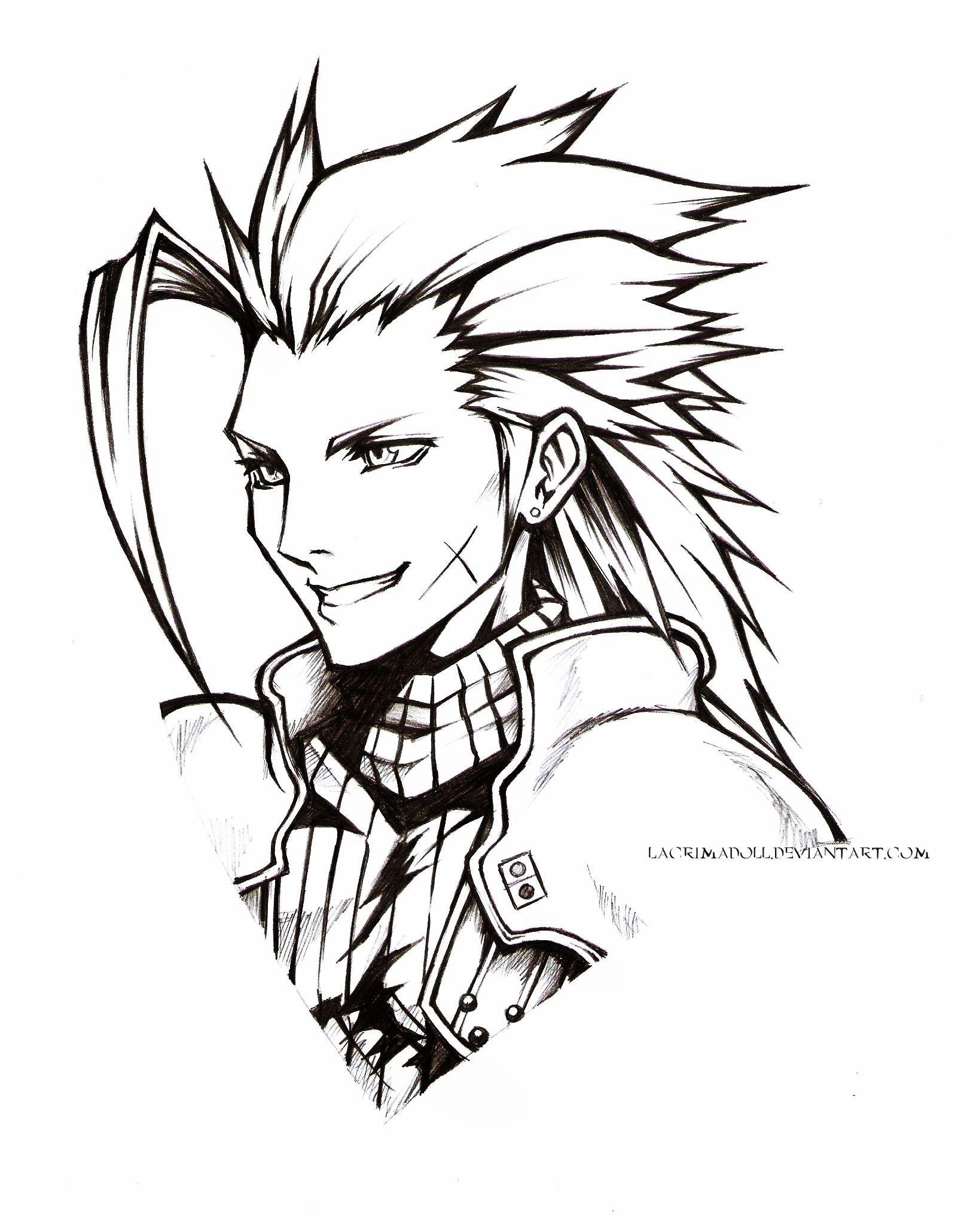 Ffvii Zack Fair By Lacrimadoll D3g2y0i Jpg 1612 2060 Final Fantasy Cloud Final Fantasy Vii Final Fantasy