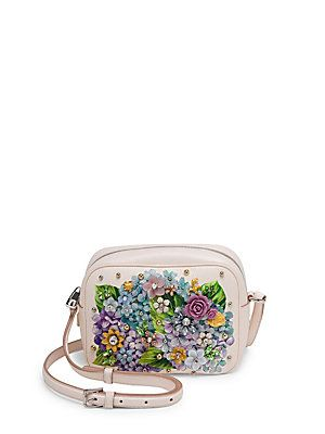 Dolce   Gabbana Crystal-Embellished Hydrangea-Print Leather Crossbody Bag a81e7bfdb90c5