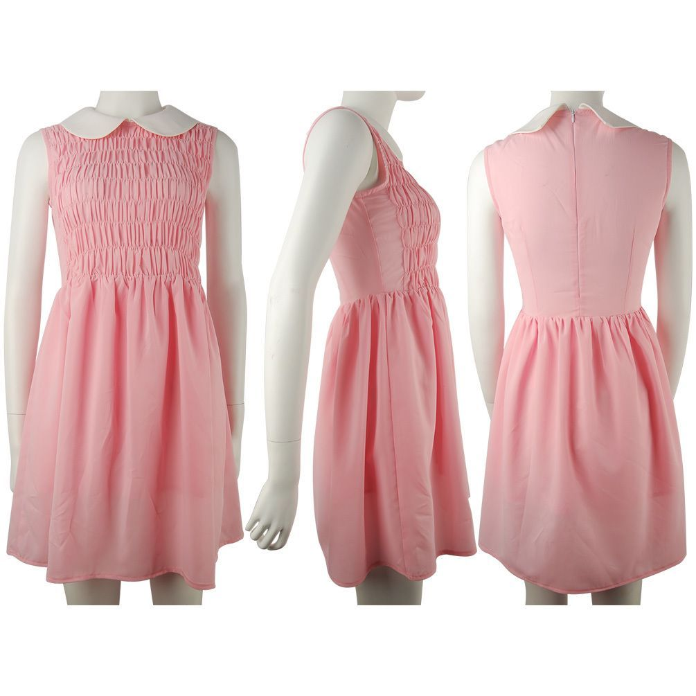 Pink dress from stranger things  Stranger Things Eleven EL dress cosplay costume daily use skater