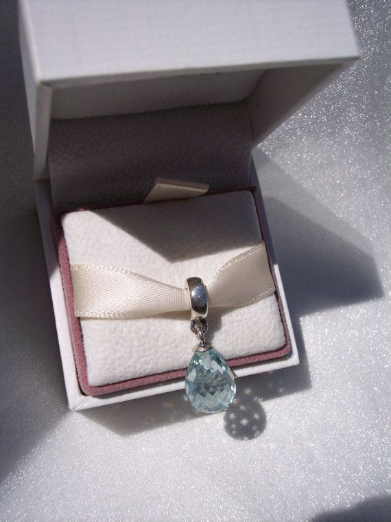 Pandora Blue Faceted Dangle Murano Glass Bracelet by JEWELSELAGANT, $40.00
