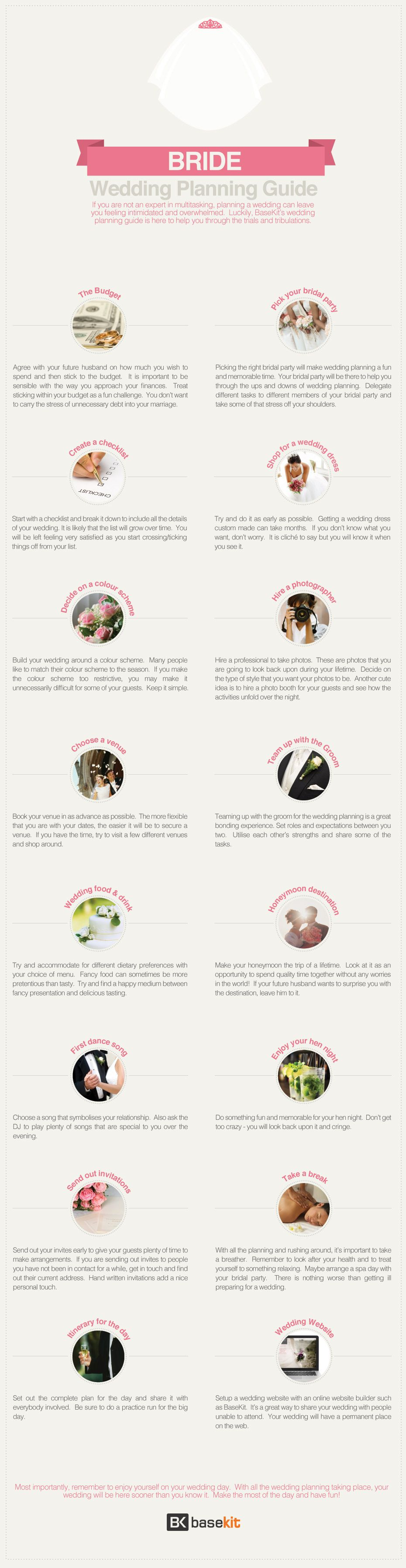 Brides checklist It covers everything from choosing your wedding