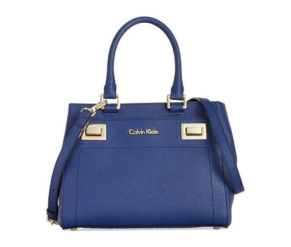 Calvin Klein Ashley Saffiano Crossbody Handbags Accessories Cobalt Blue Handbag