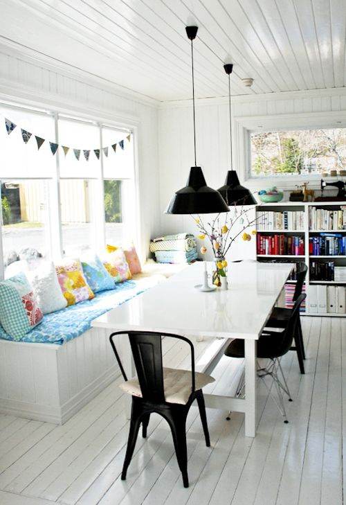 beautiful boho chic dining area love the daybed come seating the tolix chairs and the kitsch on boho chic dining room kitchen dining tables id=37782