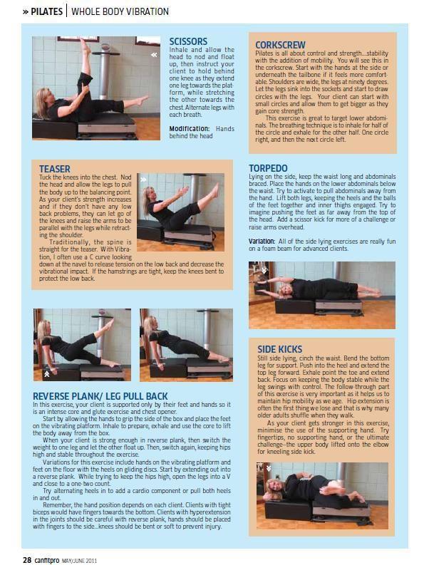 Canfitpro Whole Body Vibration Article Pilates Zaaz Whole Body