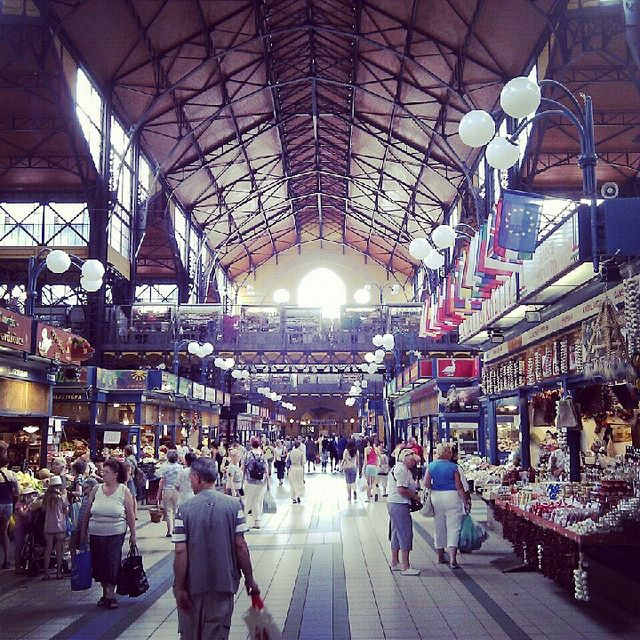 Great Market Hall - full of traditional food and drinks, souvenirs, handmade gifts and clothes, sweets and spices. Must visit! #Budapest #Hungary