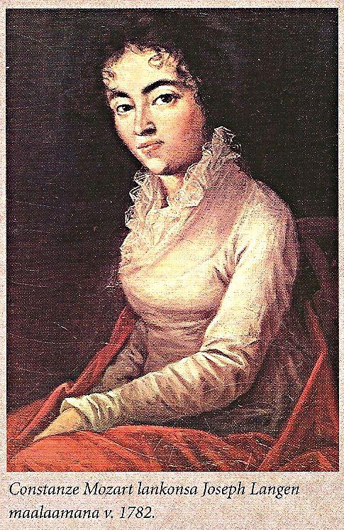 Constanze Mozart Joseph Langen Maalaama V 1782 Kirjasta