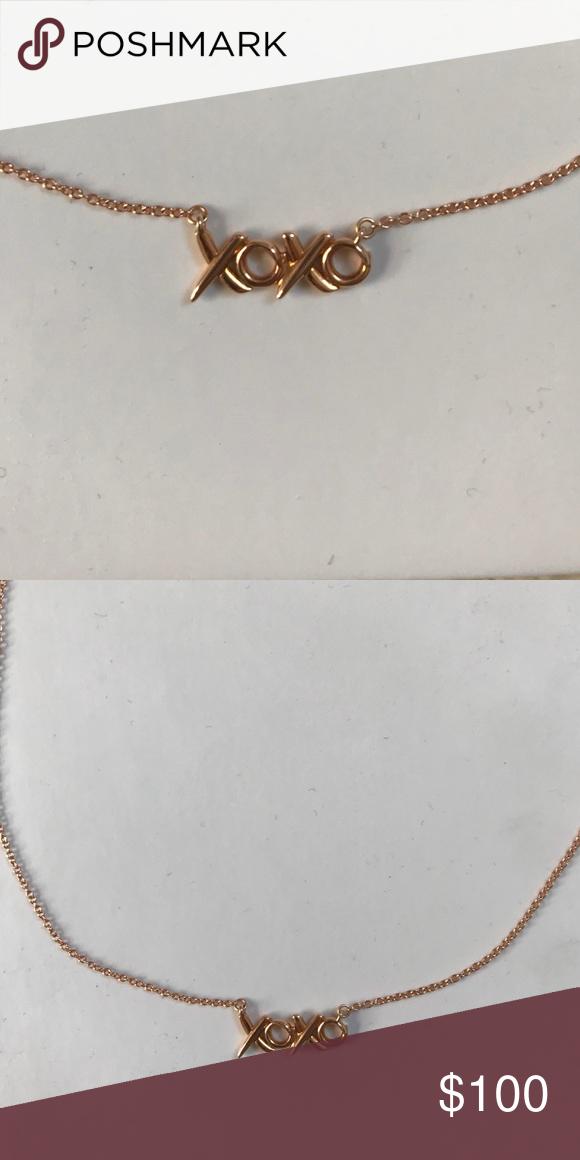 Rose Gold Authentic Tiffany S Xoxo Necklace Xoxo Necklace Necklace Gold