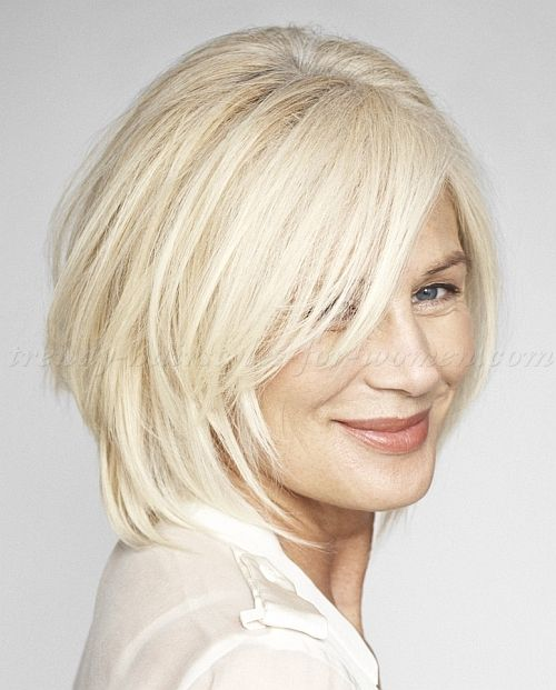 medium hairstyles for women over 50, glossing your gray/ white with ...