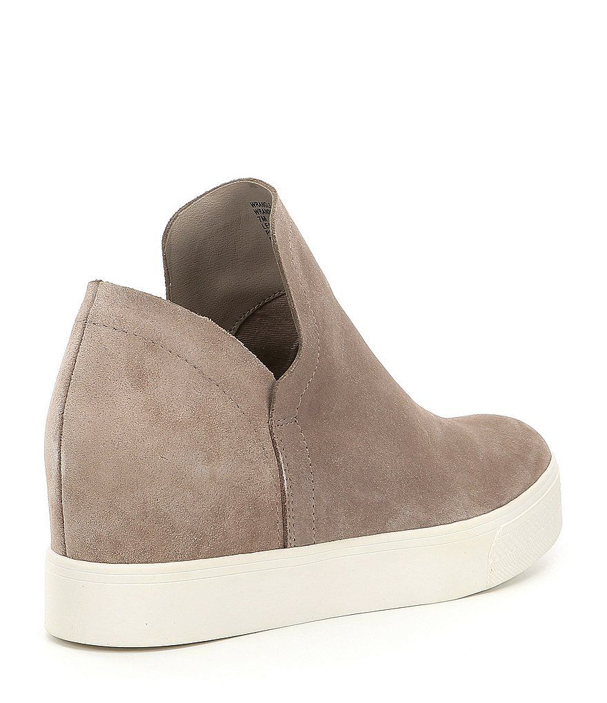 974ad50ab36 Steve Madden Wrangle Suede Platform Wedge Sneakers in 2019