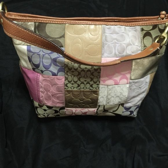 7543a41c1b7 Spotted while shopping on Poshmark  HP🎉👜 Coach Signature Patchwork Tote  K0893-F11709!  poshmark  fashion  shopping  style  Coach  Handbags