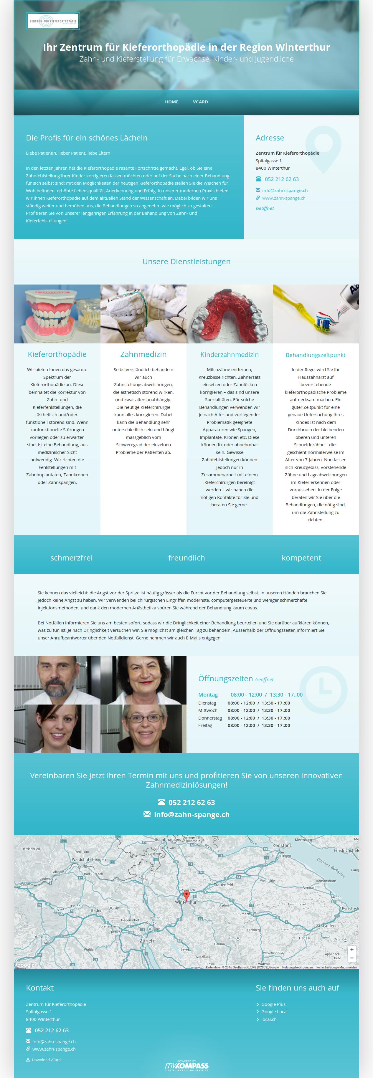 Zentrum für Kieferorthopädie, Winterthur, Zahnmedizin, ästhetische Zahnmedizin, Kinderzahnmedizin, Zahnreinigung