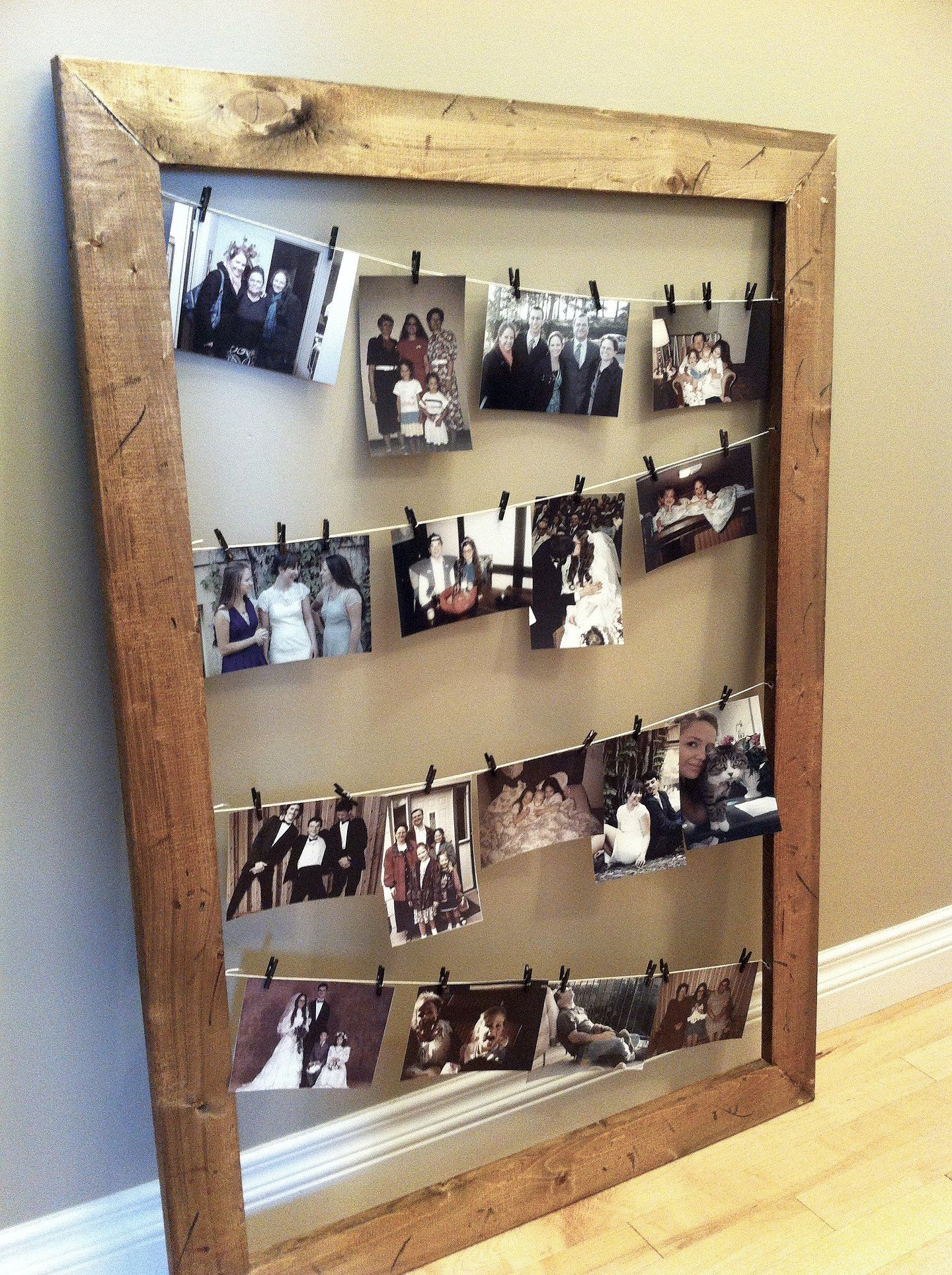 Image result for picture frame clothesline | Sean\'s Wedding Ideas ...