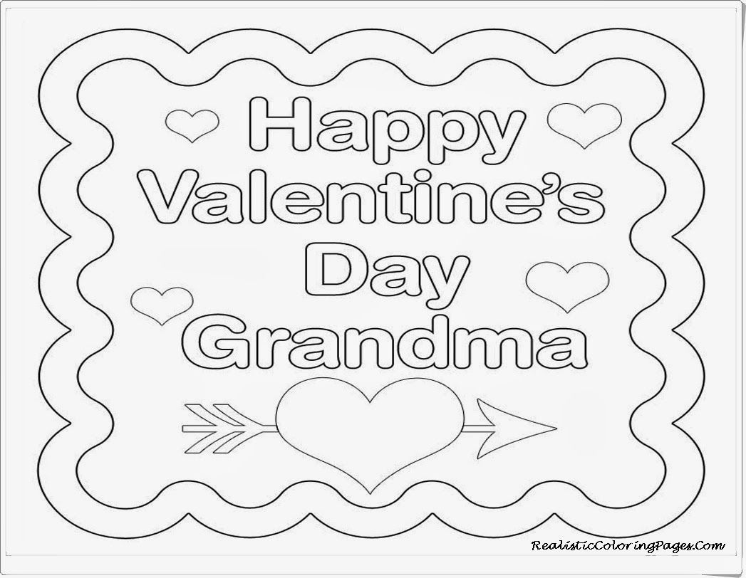 happy valentine card for grandma coloring pages - Grandma Coloring Pages