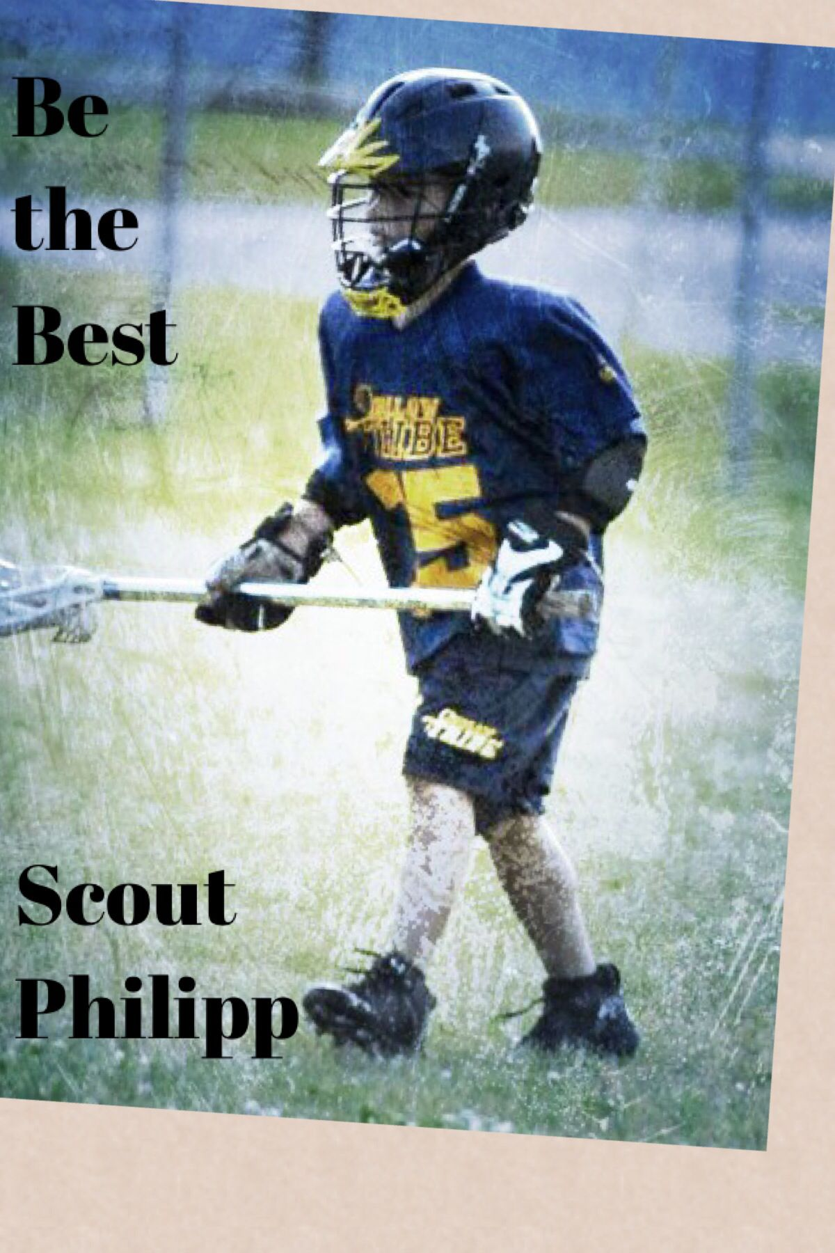 Be the Best Lacrosse, Baseball cards, My boys