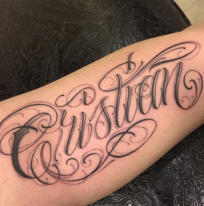 Chris Script Writing Tattoo S: Pencil Drawings