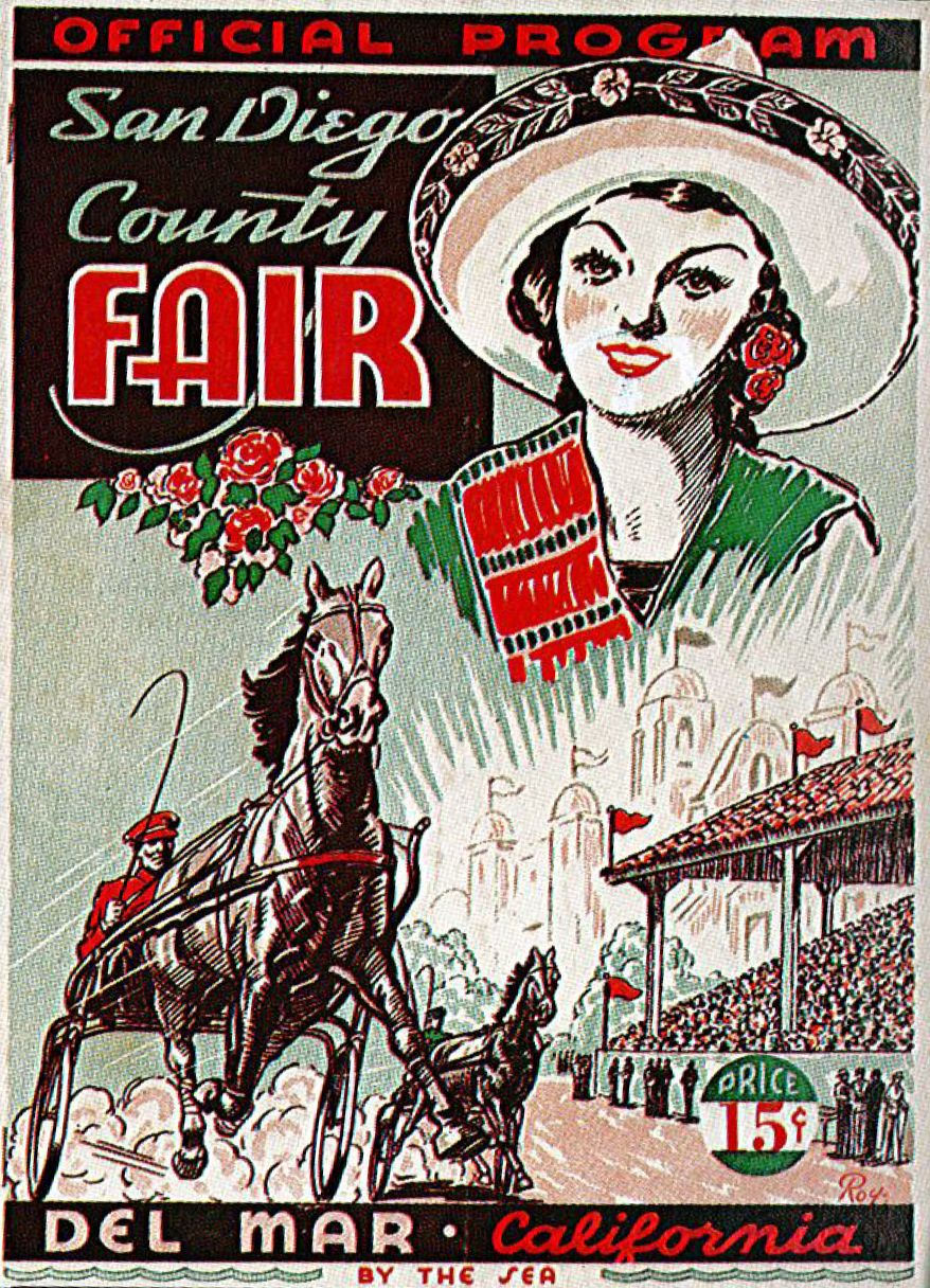 1936 San Diego County Fair First Fair Held At The New Permanent Home The Del Mar Fairgrounds San Diego County Del Mar Fairgrounds San