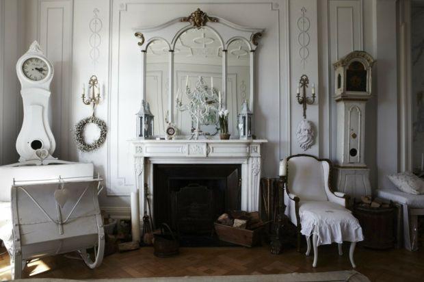 Wohnzimmer einrichten Shaggy Stil Polstermöbel Sessel Shabby chic
