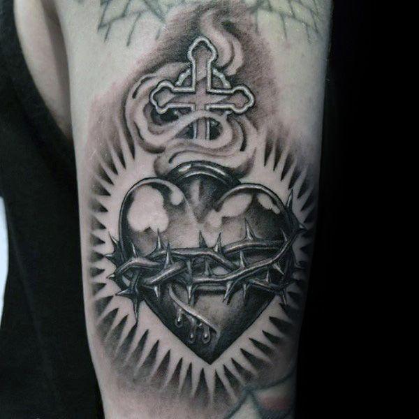 100 Sagrado Corazón Diseños De Tatuajes Para Los Hombres Ideas De