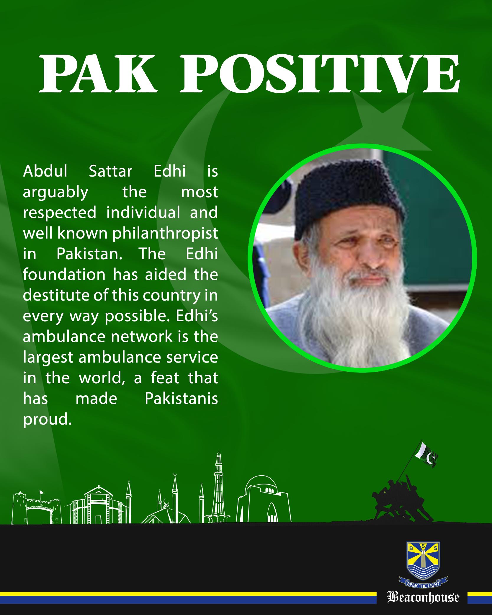 essay on our national hero abdul sattar edhi