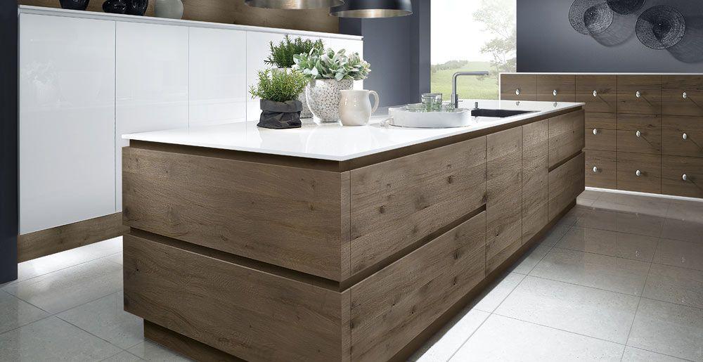 schr der k chen k che massivholz passion snow split oak h anticato grau k chen. Black Bedroom Furniture Sets. Home Design Ideas