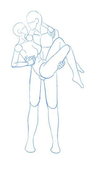 Boy Carrying Girl Drawing How To Draw Body Base Skizzen