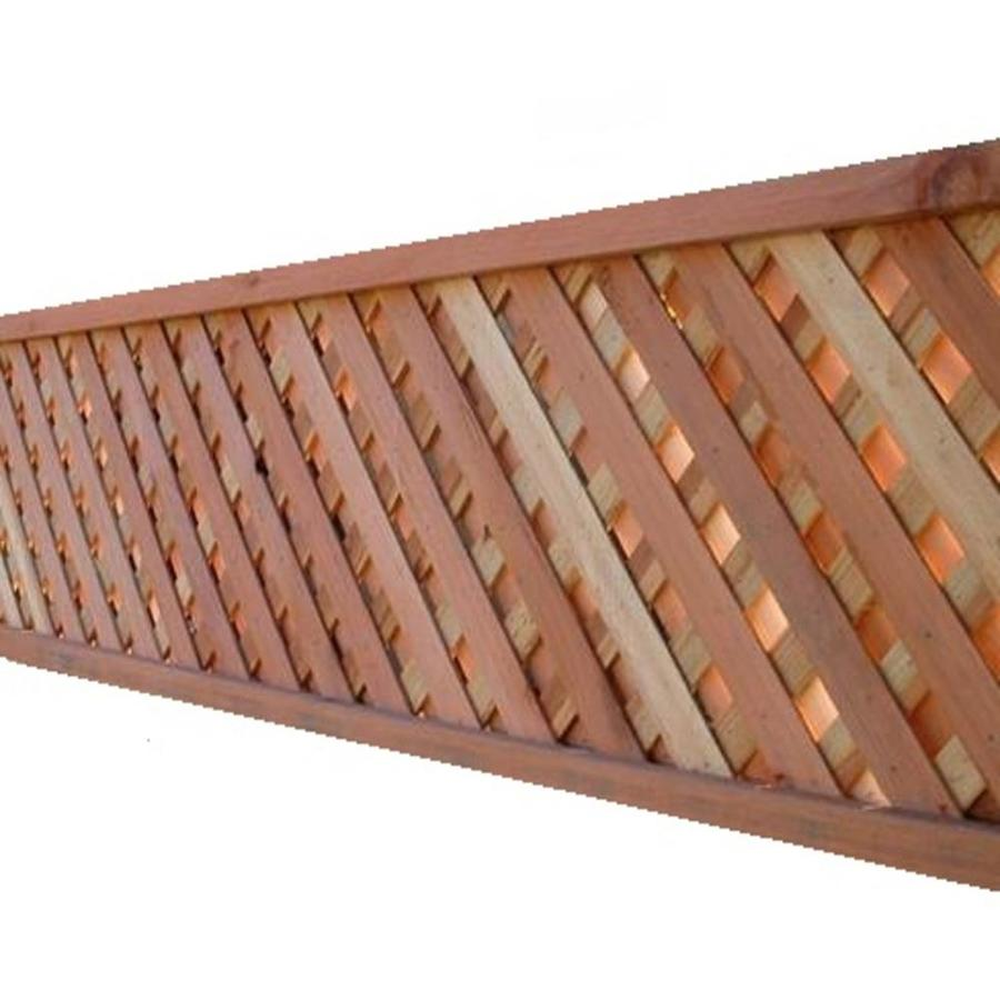2 1 4 In X 16 1 2 In X 8 Ft Natural Redwood Privacy Lattice Lowes Com Fence With Lattice Top Lattice Lattice Privacy Fence