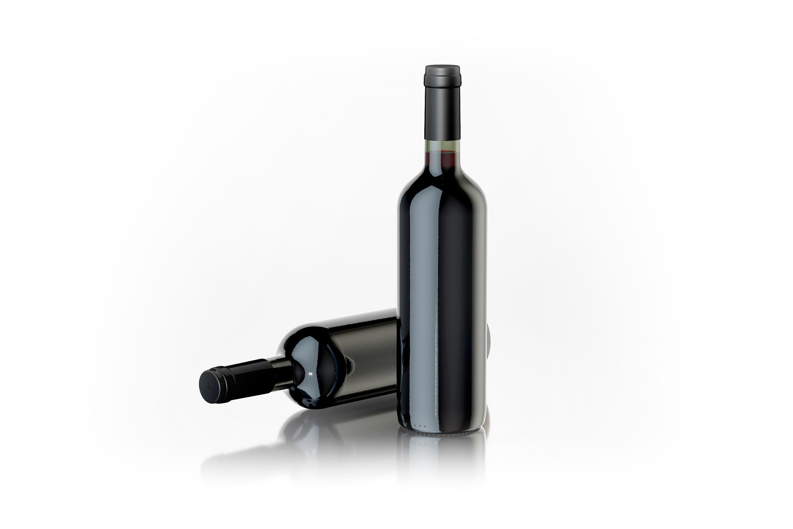 4D Max Cinema free 3d model of a standard wine bottle for cinema 4d and 3d max
