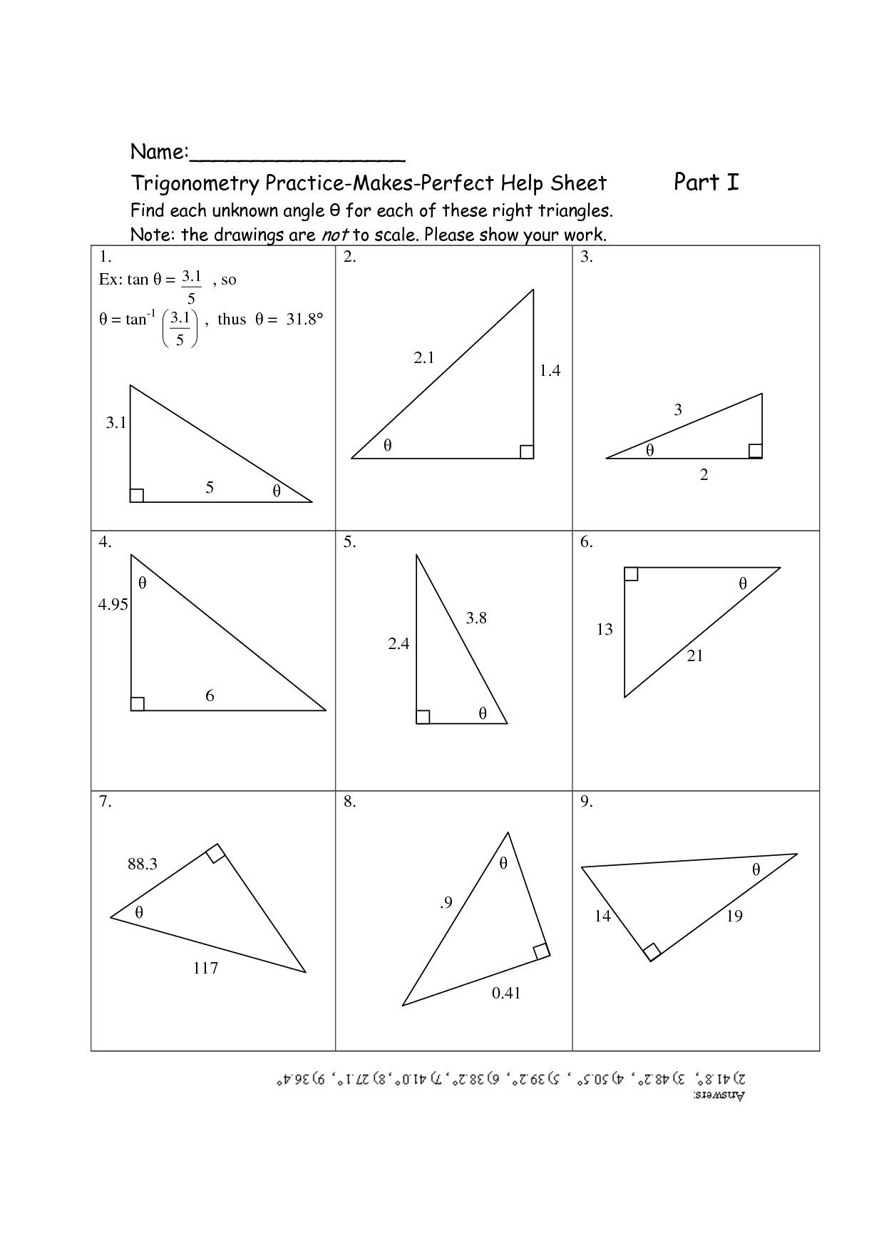 6 Recent Trigonometry Ratios In Right Triangles Worksheet