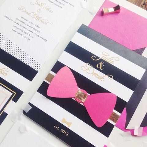 um yes kate spadewedding invitationsbridal - Kate Spade Wedding Invitations