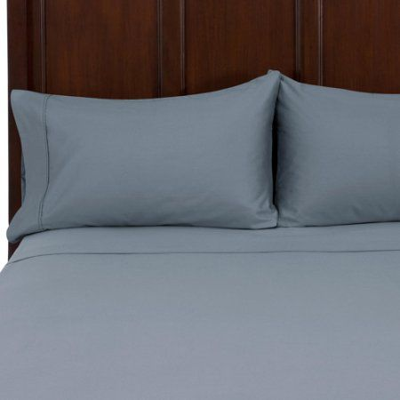 Better Homes and Gardens 525-Thread-Count Cotton Sateen Bedding Sheet Set, Blue