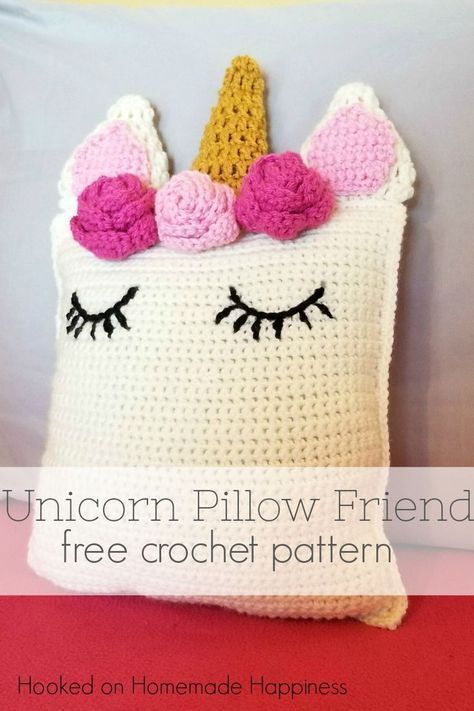 Unicorn Pillow Friend Crochet Pattern