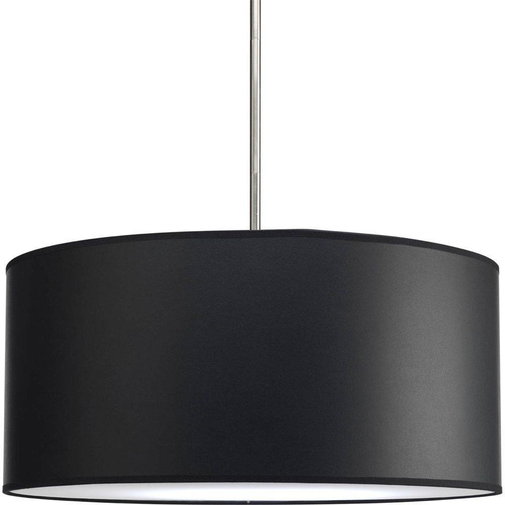 Clear glass modern murano chandelier l16k white lamp shades - Black Drum Shade Chandelier