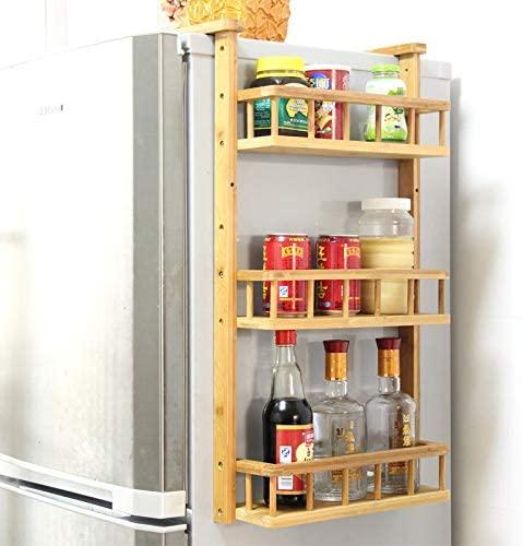 diy storage rack fridge side storage